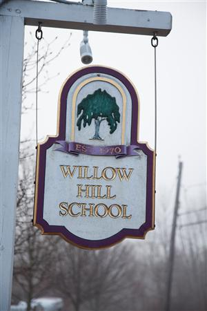 Willow Hill School sign