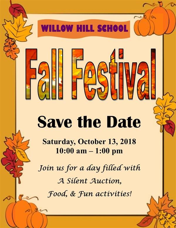 Save the Date ~ for our annual FALL FESTIVAL!!!
