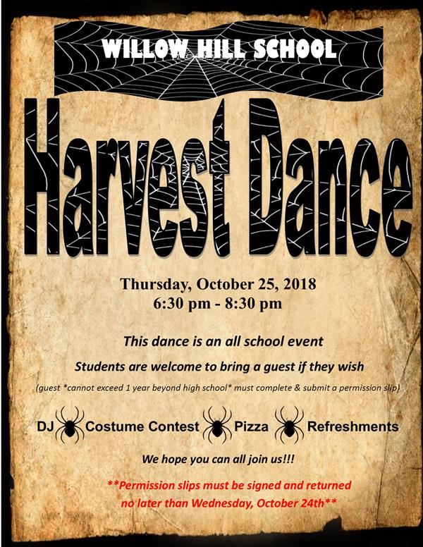 SAVE THE DATE for our annual HARVEST DANCE!!!