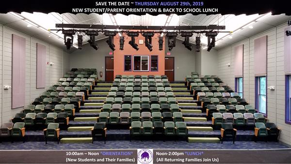 New Student/Parent Orientation & Back to School Lunch 2019